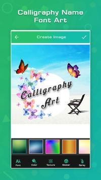 Calligraphy Name Font Art screenshot 1
