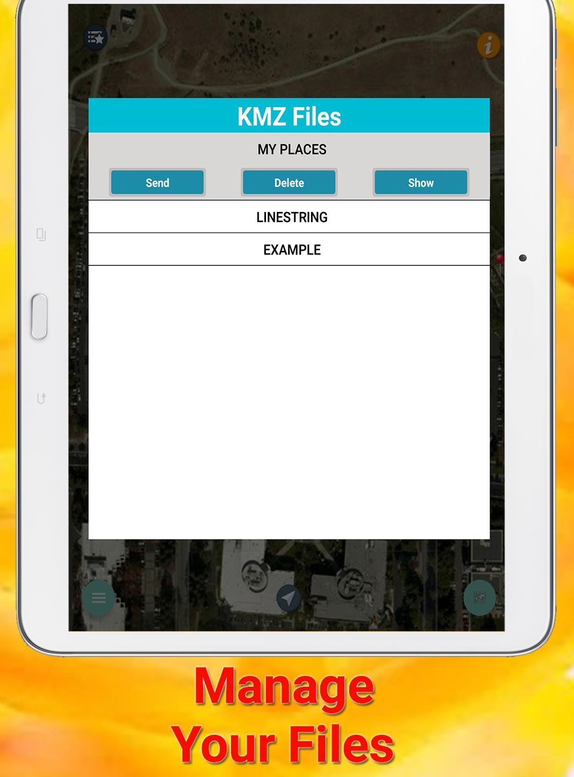 GPX KML KMZ Viewer and Converter on gps map for Android