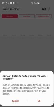 Samsung Voice Recorder imagem de tela 4