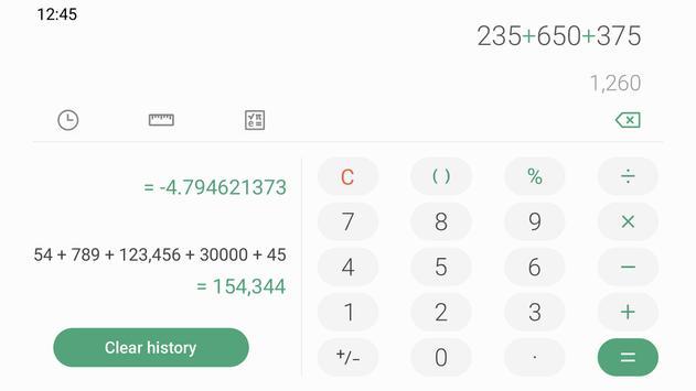 Samsung Calculator Ekran Görüntüsü 1