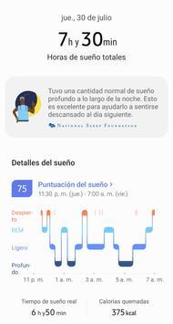 Samsung Health captura de pantalla 1