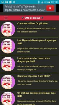 L'art de Draguer par SMS poster
