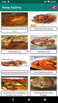 500+ Resep Masakan Kepiting poster