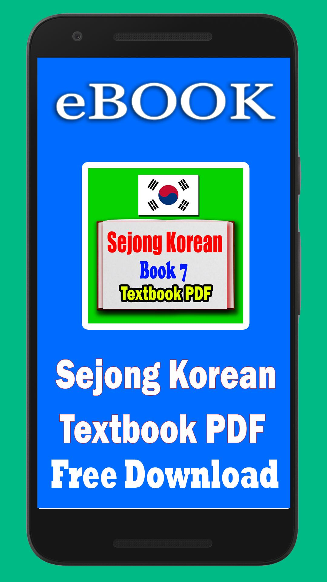 Sejong Korean Textbook PDF book 7 cho Android - Tải về APK