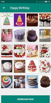 Birthday Photo Cake Stickers for Whatsapp Chat screenshot 4