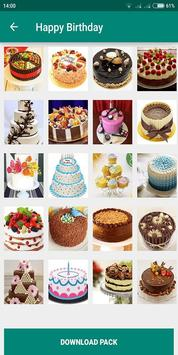 Birthday Photo Cake Stickers for Whatsapp Chat screenshot 5