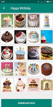 Birthday Photo Cake Stickers for Whatsapp Chat screenshot 6
