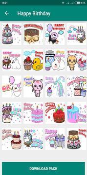 Birthday Photo Cake Stickers for Whatsapp Chat screenshot 7
