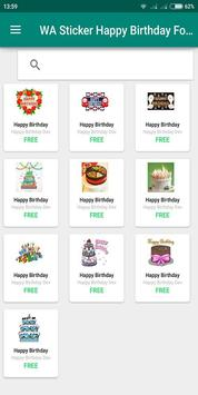 Birthday Photo Cake Stickers for Whatsapp Chat poster