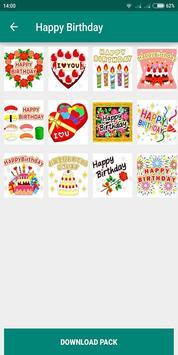 Birthday Photo Cake Stickers for Whatsapp Chat screenshot 1