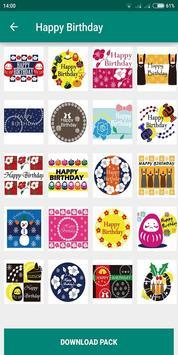 Birthday Photo Cake Stickers for Whatsapp Chat screenshot 2