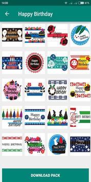 Birthday Photo Cake Stickers for Whatsapp Chat screenshot 3