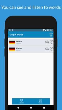 English Russian German etc. Word Memorizer - Guguk screenshot 4