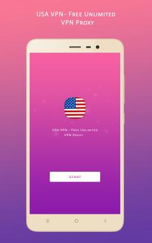 USA VPN - Free Unlimited VPN Proxy poster