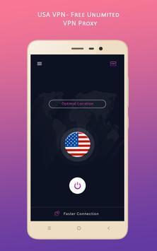 USA VPN - Free Unlimited VPN Proxy screenshot 1