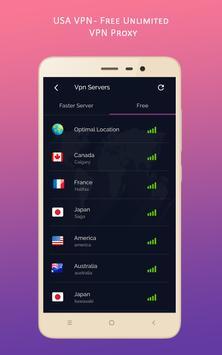 USA VPN - Free Unlimited VPN Proxy screenshot 3