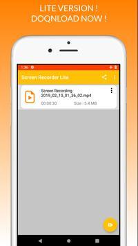 Screen Recorder Lite screenshot 1