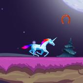 Unicorn Santa icon