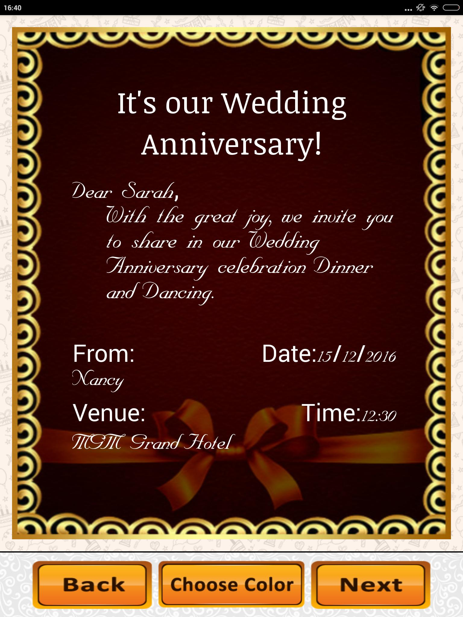 Anniversary Invitation Maker Party Wedding Wishes For Android Apk