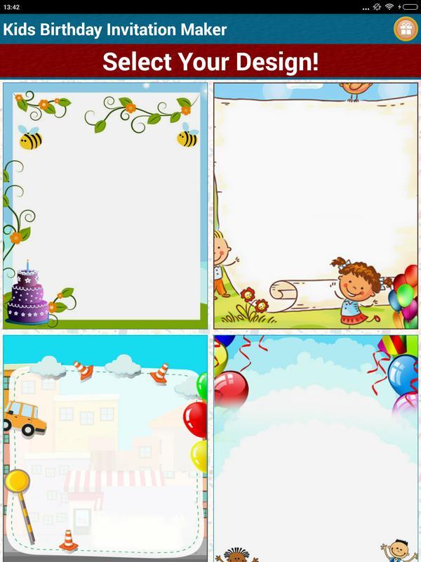 Kids Birthday Invitation Maker Screenshot 15