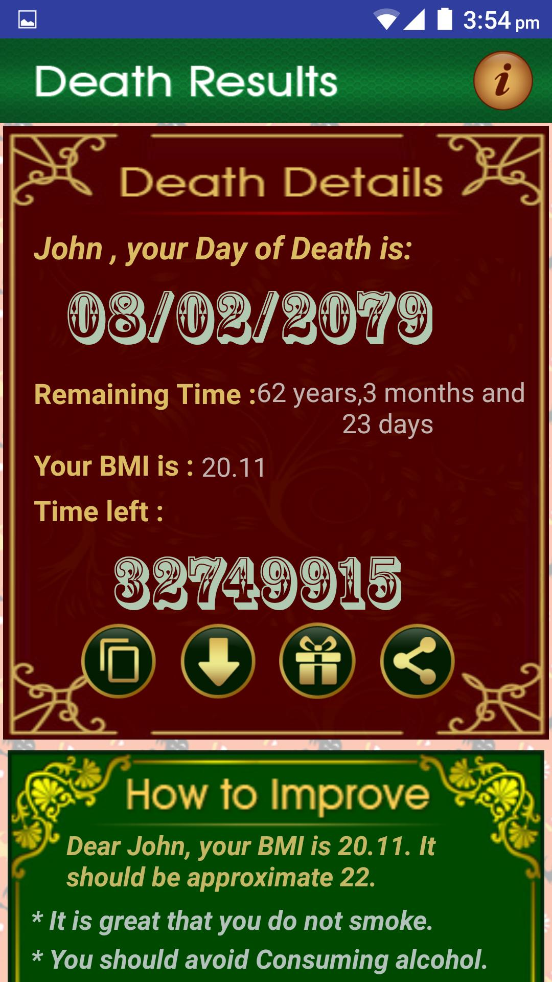 Death Date Calculator for Android - APK Download