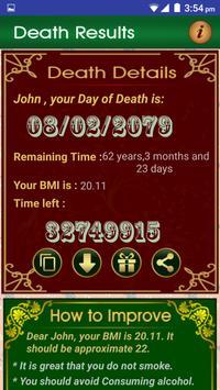 Death Date Calculator screenshot 2
