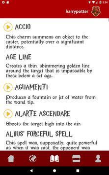 Spells Book & Quiz Harry Potter 截圖 5