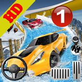 Water Car Slider Simulator 3d icon