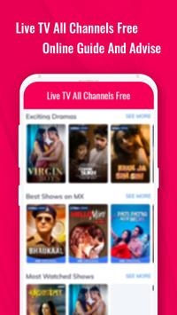 Live TV Channels Free Online Guide screenshot 1