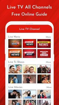 Live TV Channels Free Online Guide screenshot 1