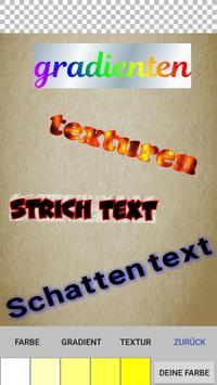 Text auf dem Foto Plakat