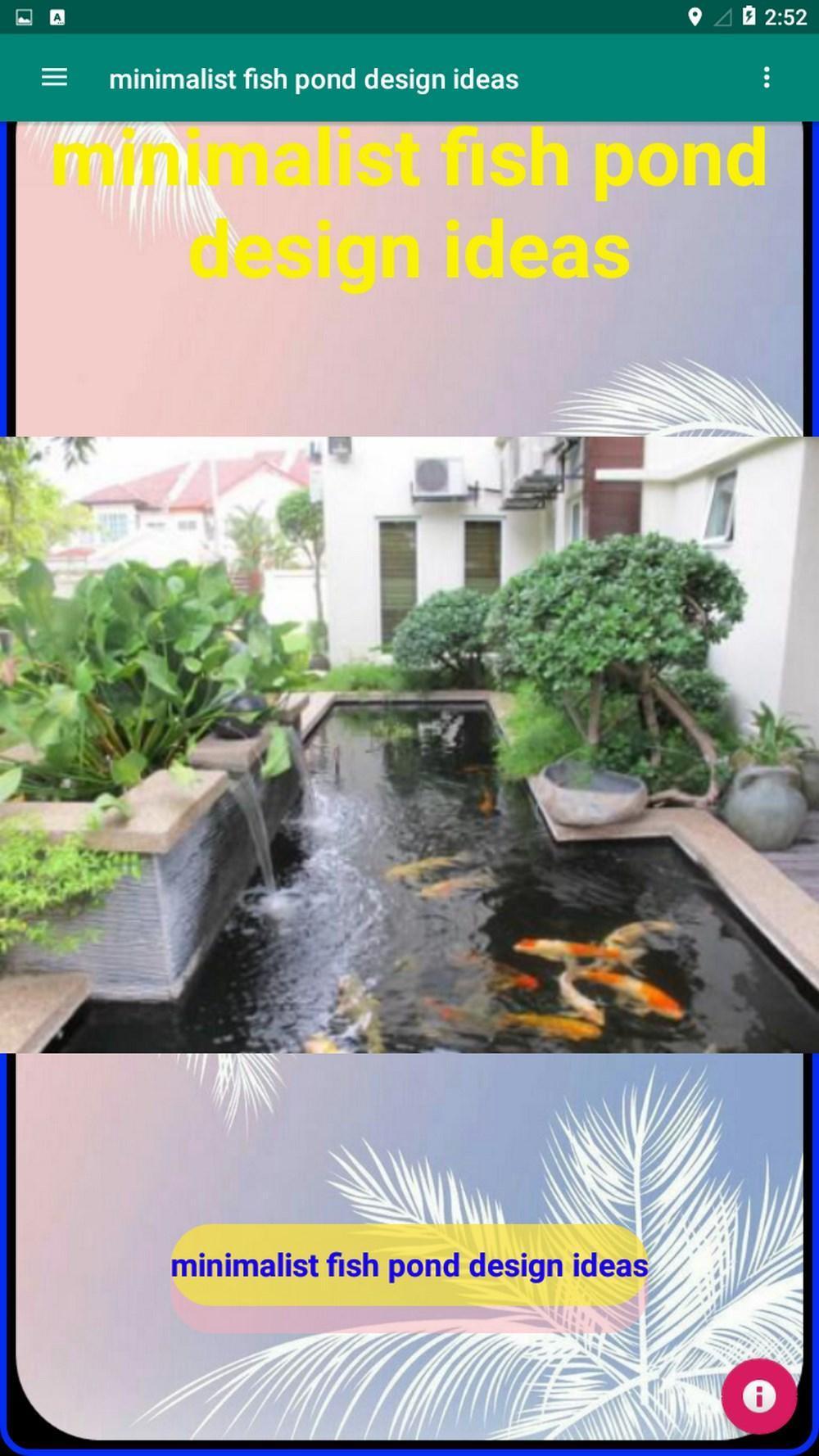 Minimalist Fish Pond Design Ideas For