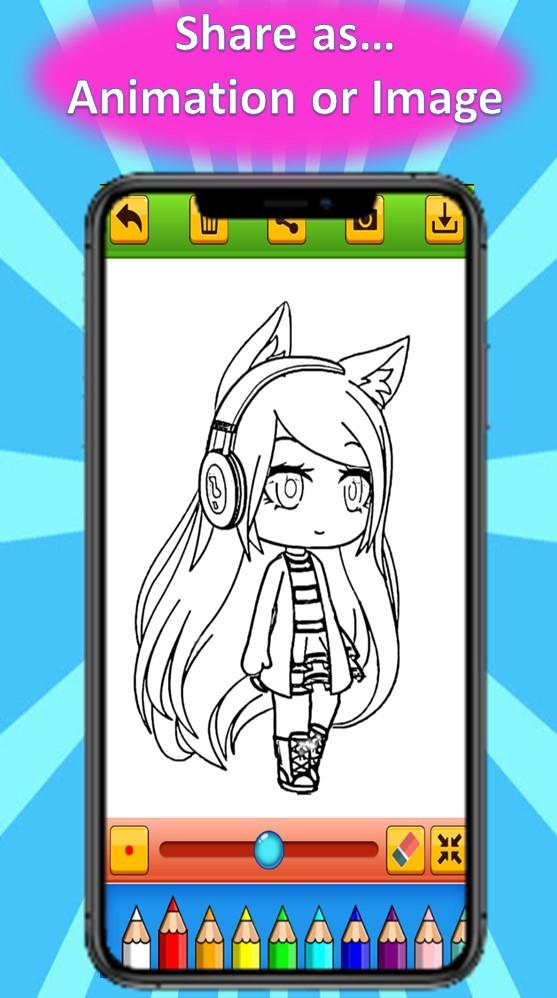 Coloring Book Of Gacha Life 2020 For Android Apk Download