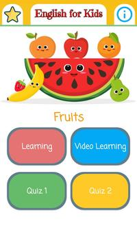English For Kids-Fruits poster