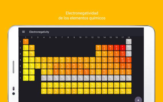 Tabla Periódica Tamode Pro captura de pantalla 14