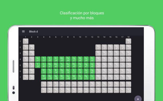 Tabla Periódica Tamode Pro captura de pantalla 15