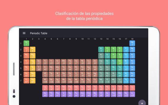 Tabla Periódica Tamode Pro captura de pantalla 7