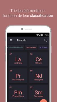 Tableau périodique Tamode Pro capture d'écran 1