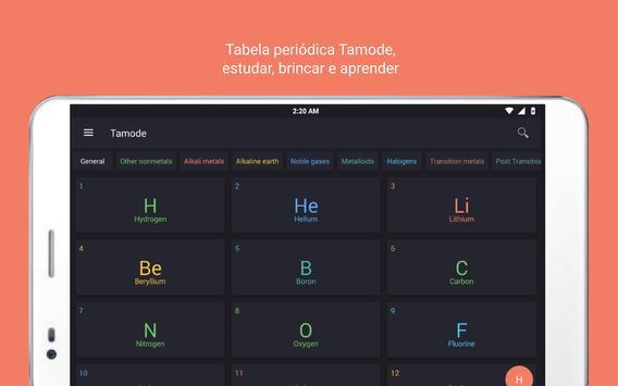 Tabela Periódica Tamode Pro imagem de tela 9