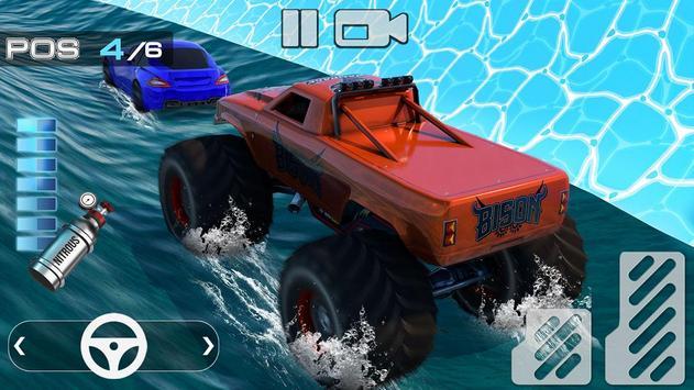 Aqua Cars Uphill Water Slide Rally 3D poster