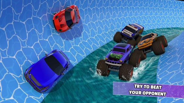 Aqua Cars Uphill Water Slide Rally 3D screenshot 1