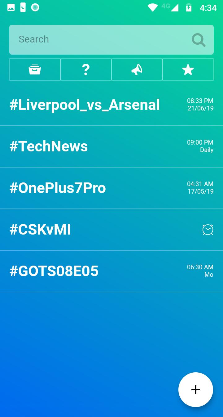 HashWatch: Schedule Notifications for Hashtags for Android - APK