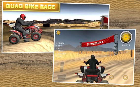 Quad Bike Race Desert Offroad poster