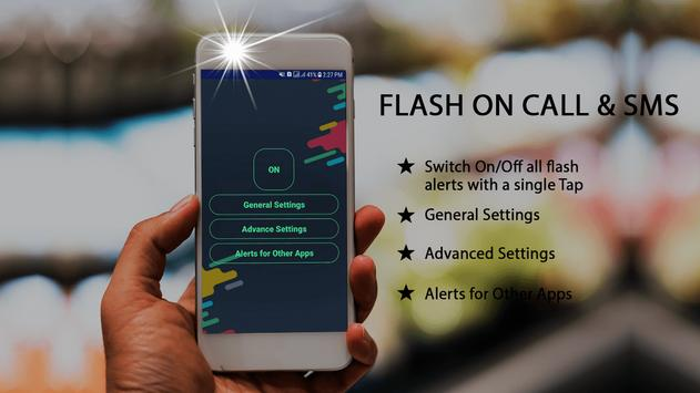 Automatic Flash on call and SMS & LED Torch screenshot 1