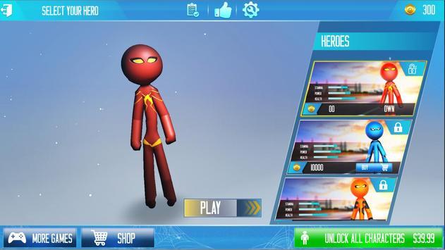Rope Hero 2021: Stickman Rope Hero City Crime screenshot 4