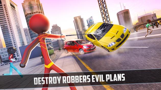 Rope Hero 2021: Stickman Rope Hero City Crime screenshot 10