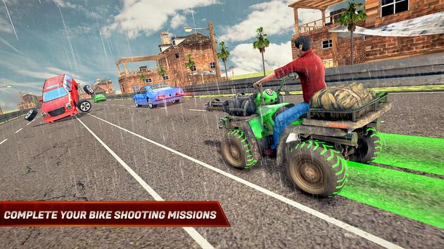 ATV Bike Quad Racing Shooter screenshot 2