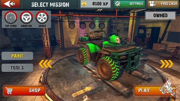 ATV Bike Quad Racing Shooter screenshot 9