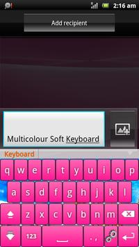 Multicolor Soft Keyboard Free poster