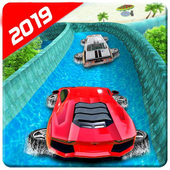 Water Surfing Floating Car Racing Game 2019 иконка